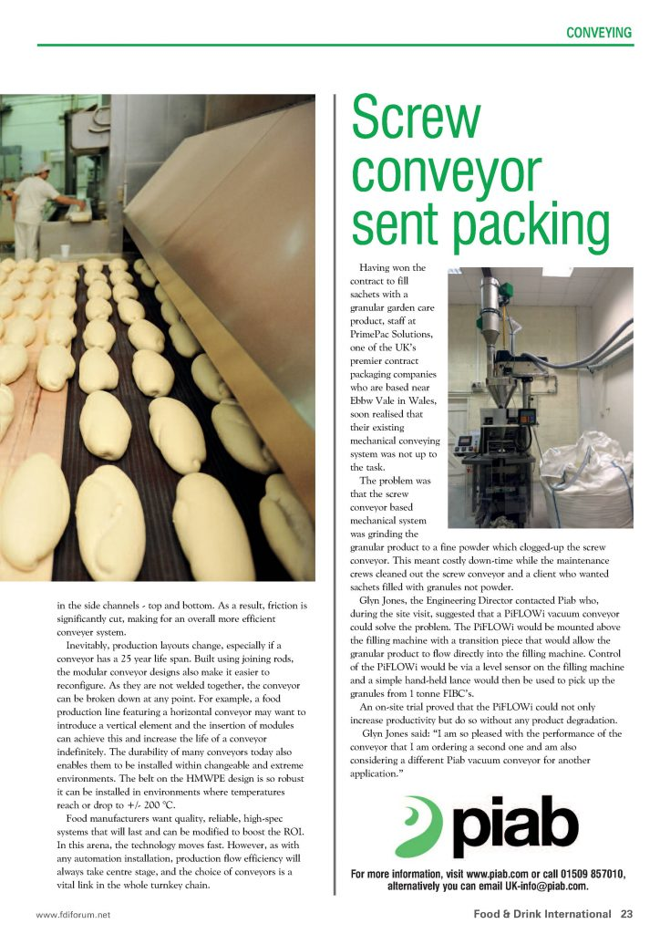 Conveying automation article page 4