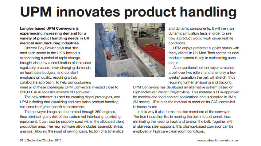 upm innovates product handling feature