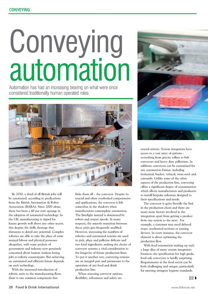 Conveying automation article page 1