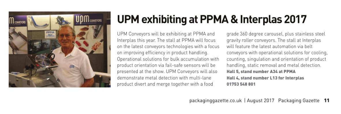 UPM in Packaging Gazette August