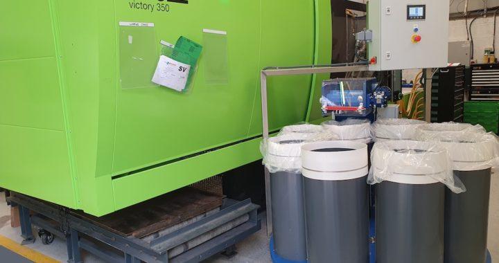 bespoke test tube conveyor installed