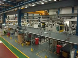conveyor on factory floor